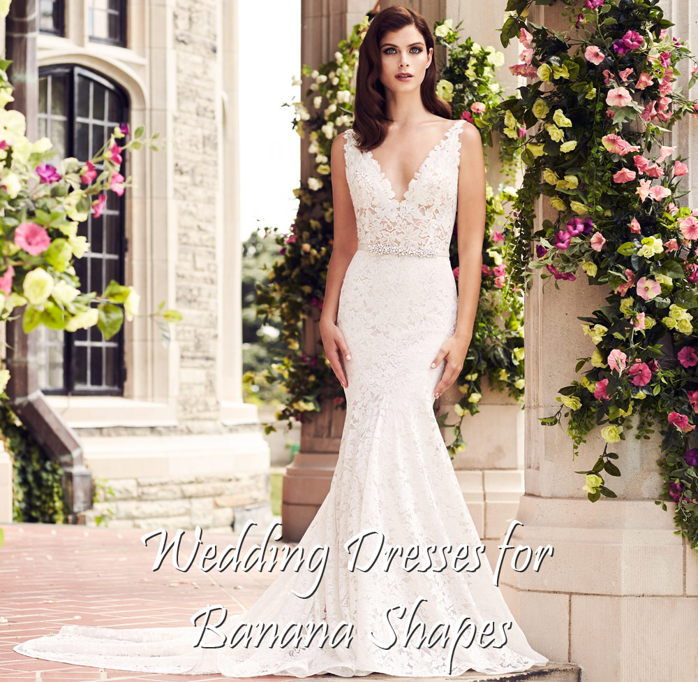Buying A Wedding Gown For Your Body Shape Banana Paloma Blanca