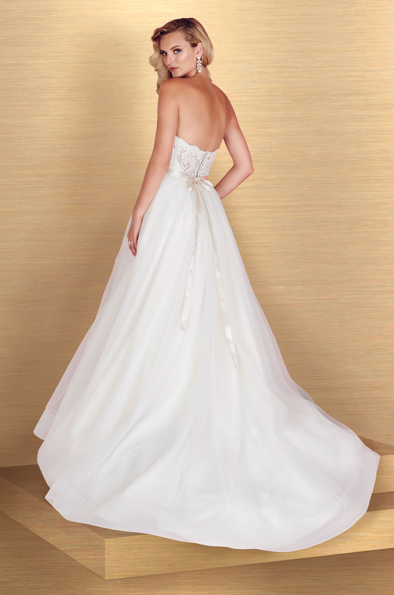 Tulle Skirt Ball Gown Wedding Dress - Style #4668 | Paloma Blanca