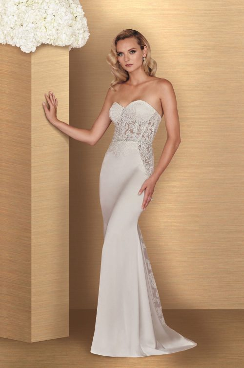Sheer Satin Wedding Dress - Style #4669 | Paloma Blanca