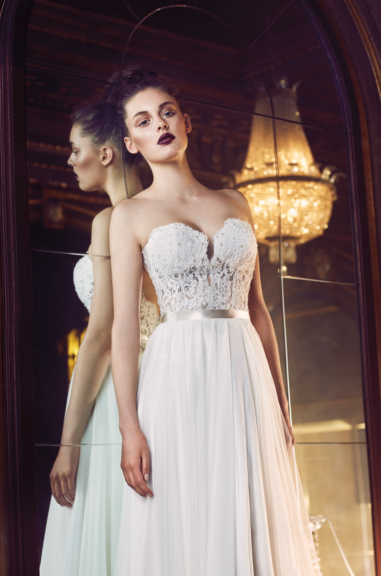 Gathered Tulle Wedding Dress - Style #4707 | Paloma Blanca