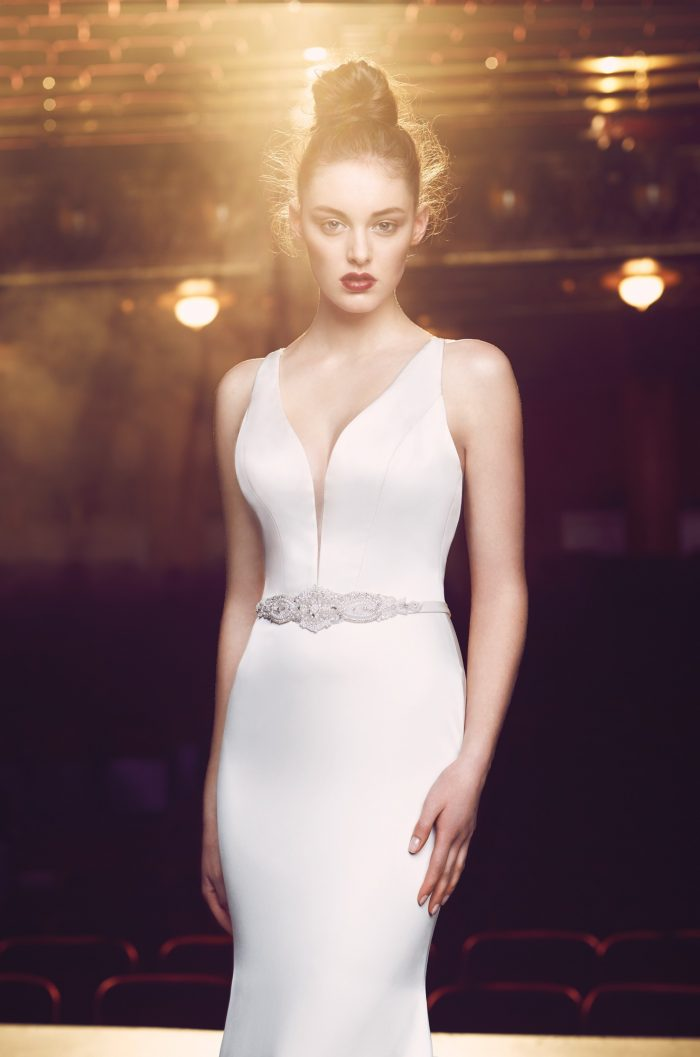 Plunging Neckline Wedding Dress - Style #4714 | Paloma Blanca