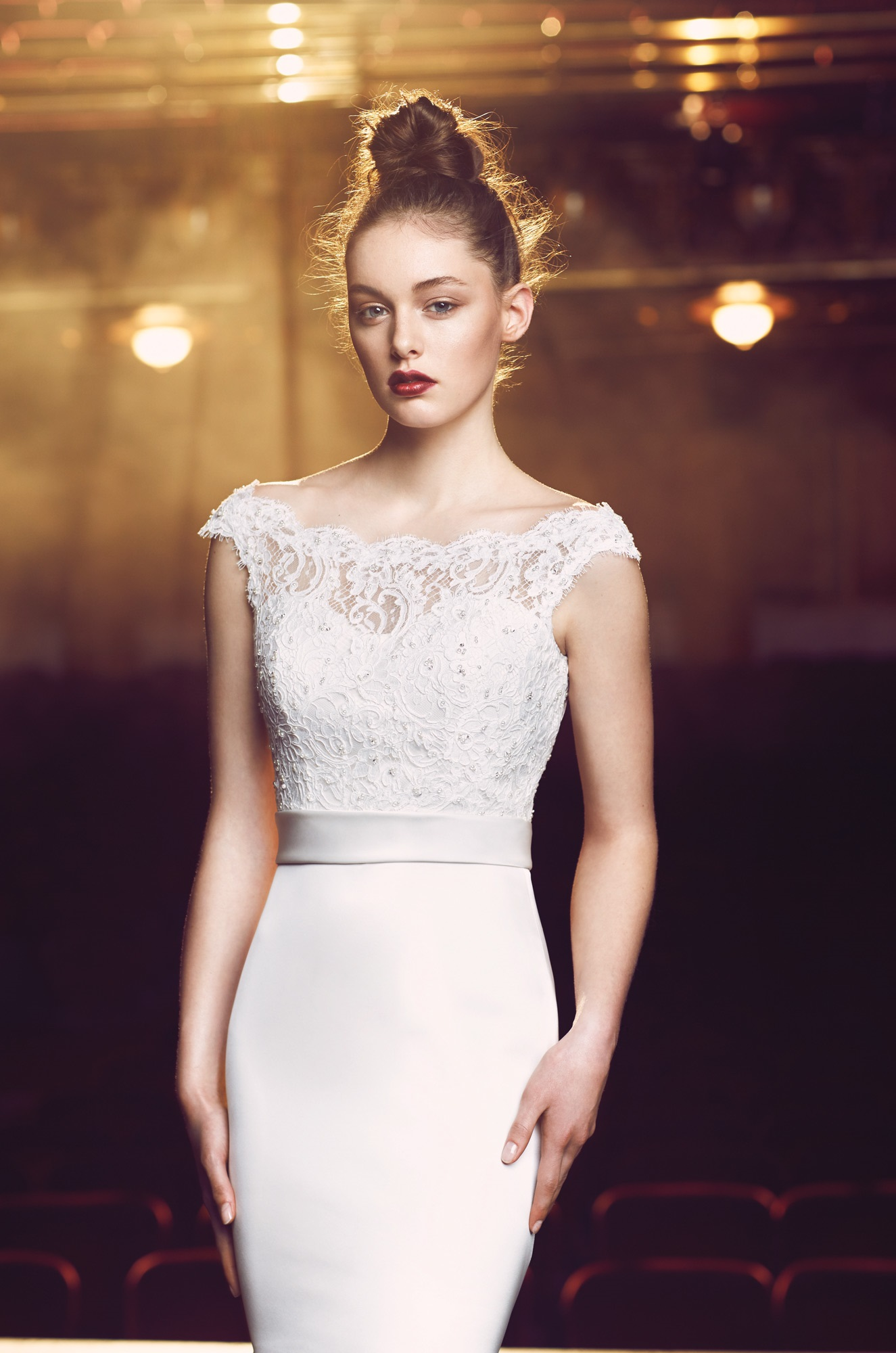 Beaded Lace Wedding Dress - Style #4716 | Paloma Blanca