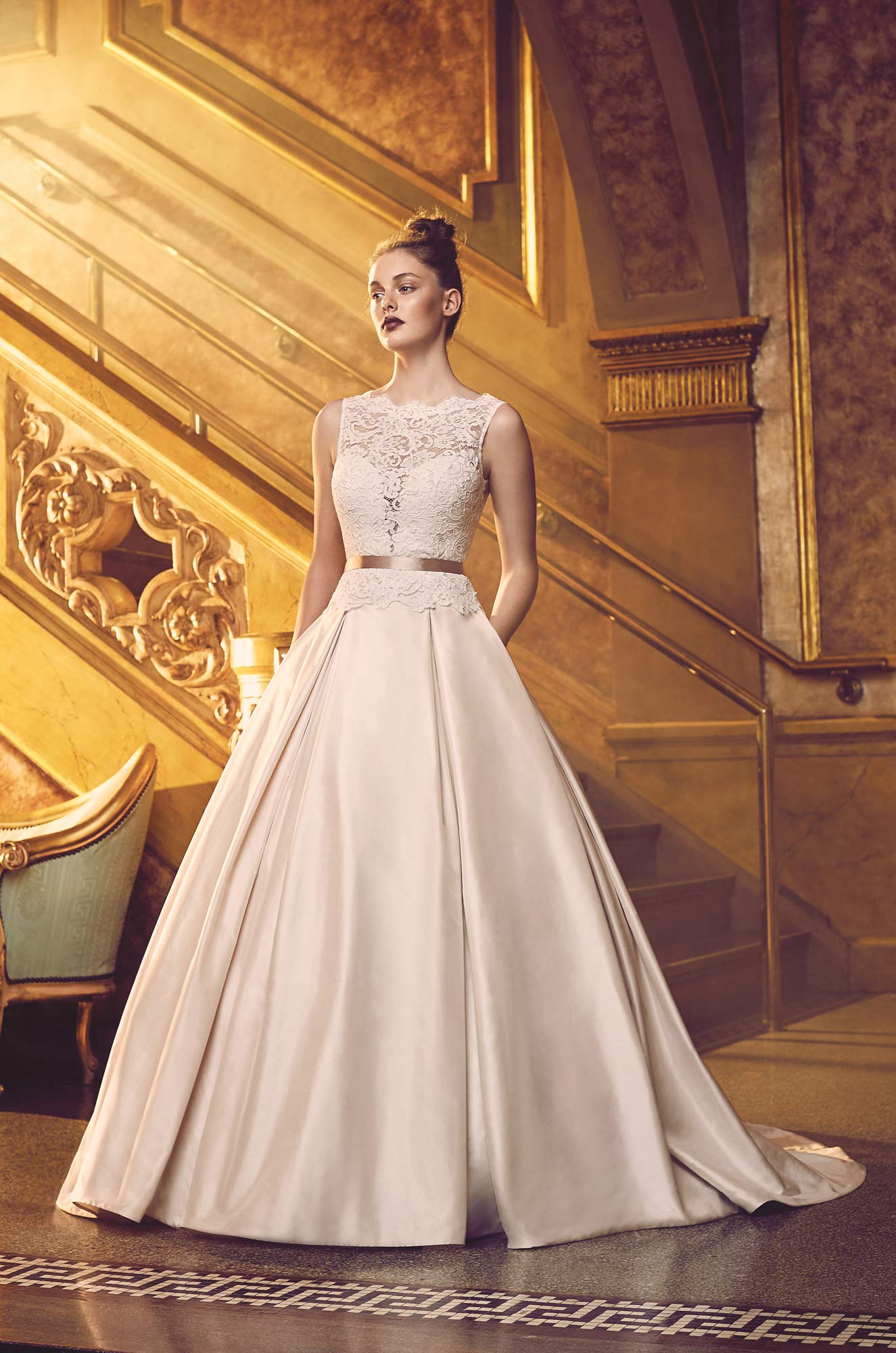 Silk Ball Gown Wedding Dress - Style #4720 | Paloma Blanca
