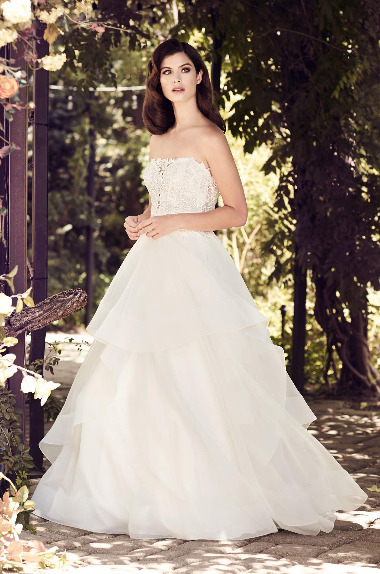 A-Line Two-Tone Lace Wedding Dress - Style #4729 | Paloma Blanca