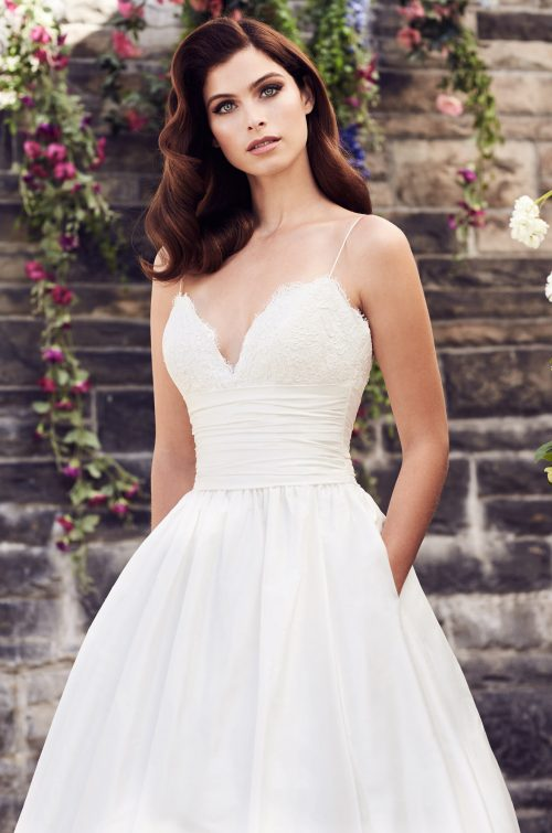 Silk A-Line Wedding Dress - Style #4730 | Paloma Blanca