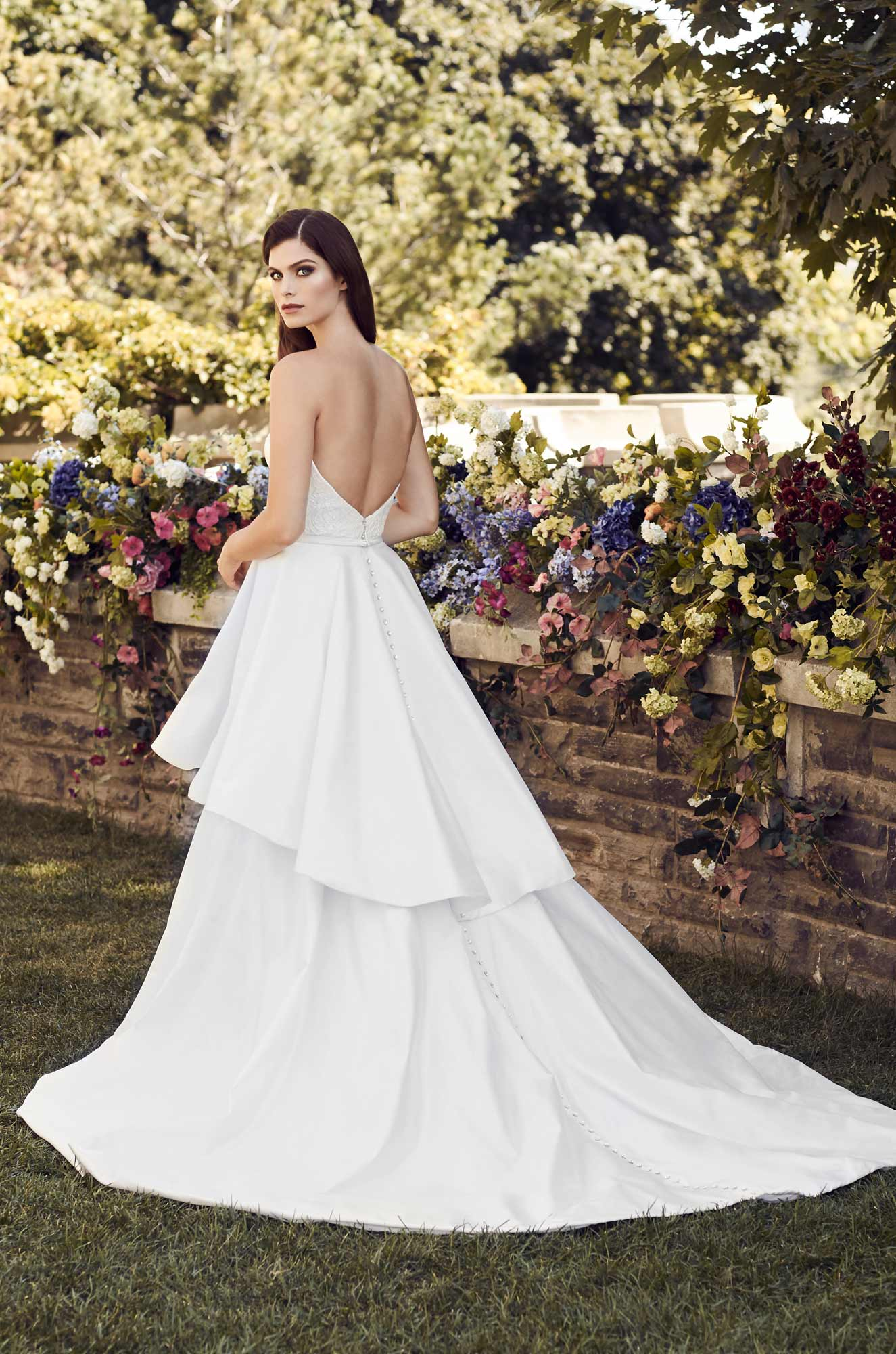 Detachable Silk Skirt Wedding Dress - Style #4732 | Paloma Blanca