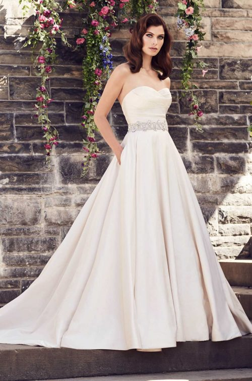 Pleated Silk Sweetheart Wedding Dress - Style #4733 | Paloma Blanca