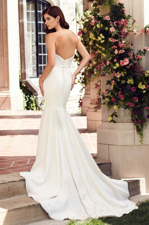Beaded Satin Wedding Dress - Style #4743 | Paloma Blanca