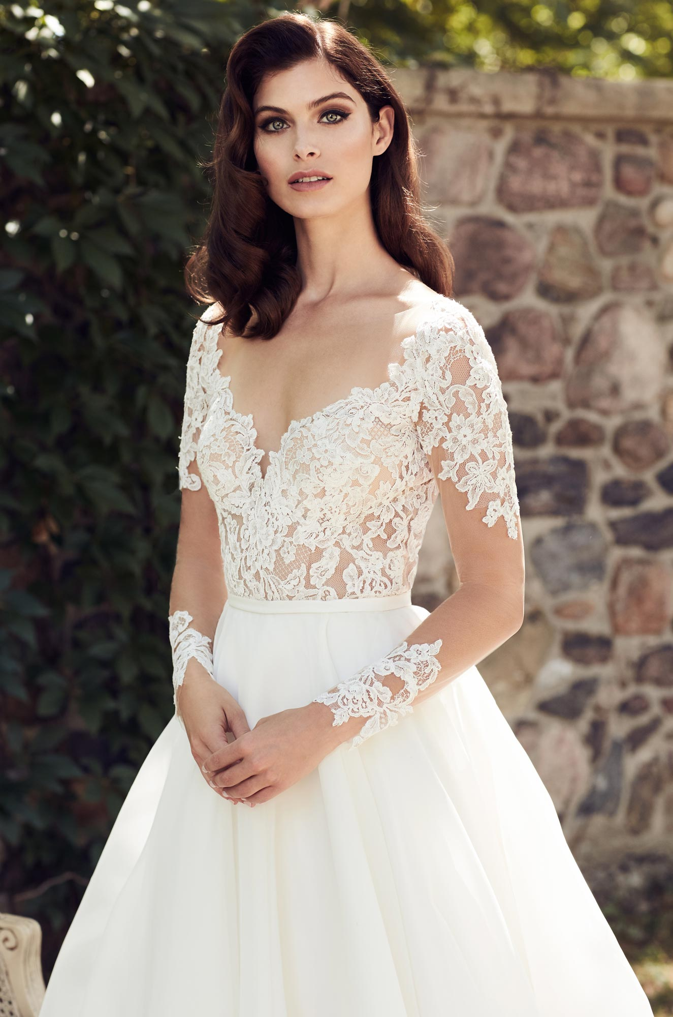 Illusion Lace Sleeve Wedding Dress - Style #4744 | Paloma Blanca