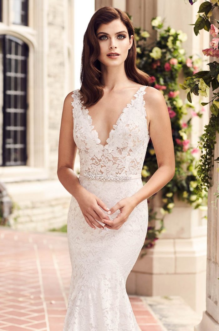 Sheer Lace Wedding Dress - Style #4746 | Paloma Blanca