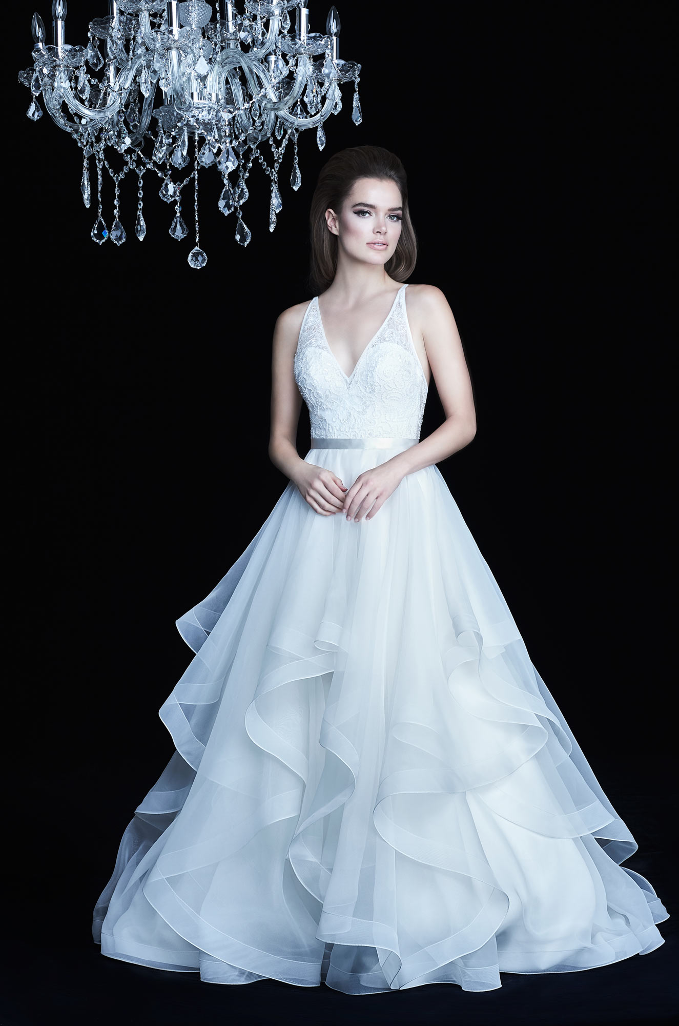 Low V-Neck Wedding Dress - Style #4750 | Paloma Blanca