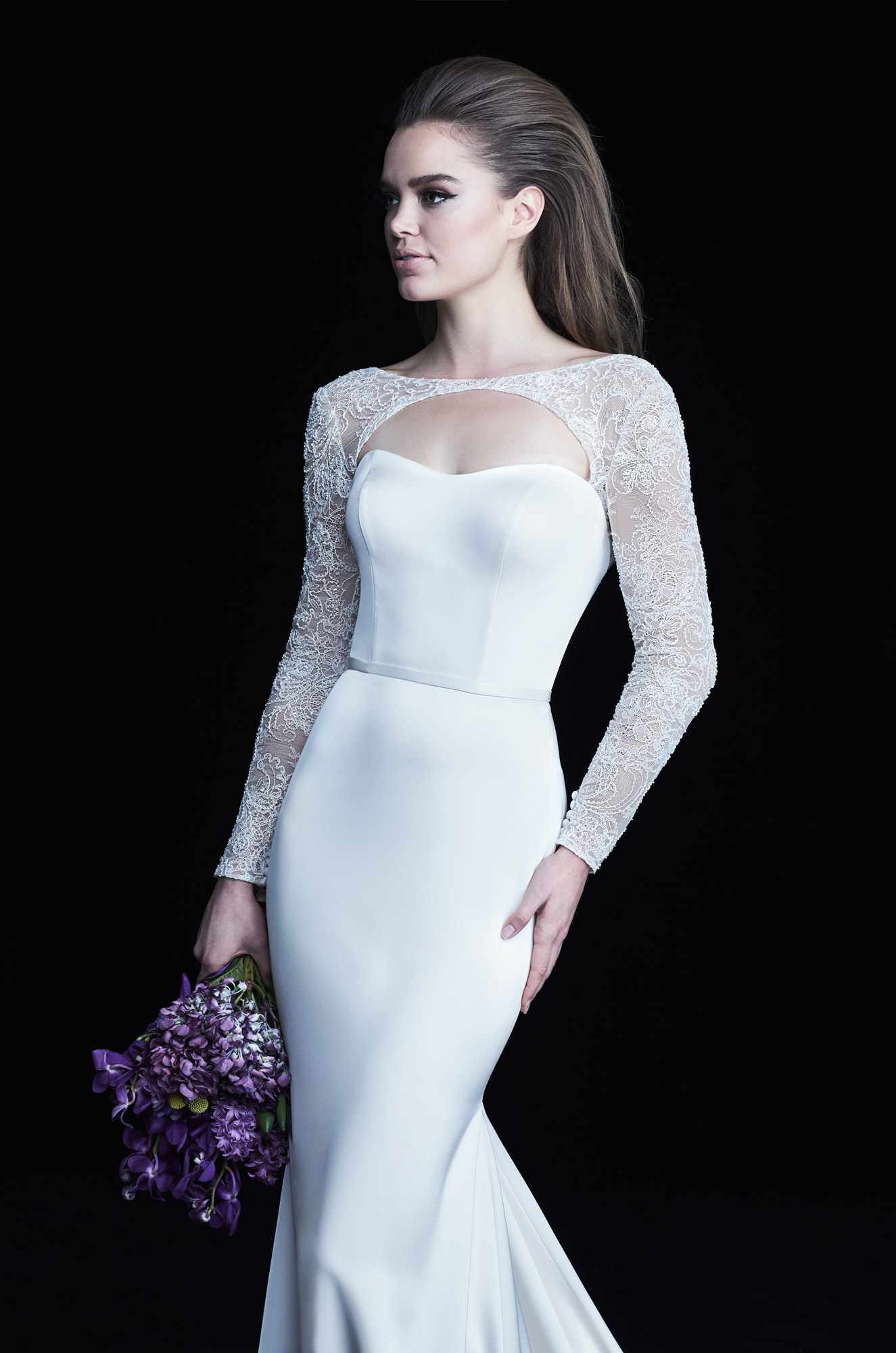 Long Sleeve Bolero Wedding Dress Style 4763 Paloma Blanca