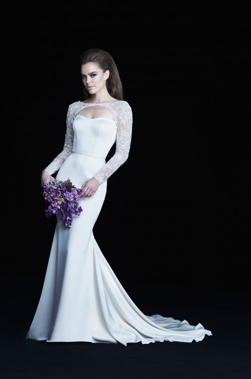 Long Sleeve Bolero Wedding Dress - Style #4763 | Paloma Blanca