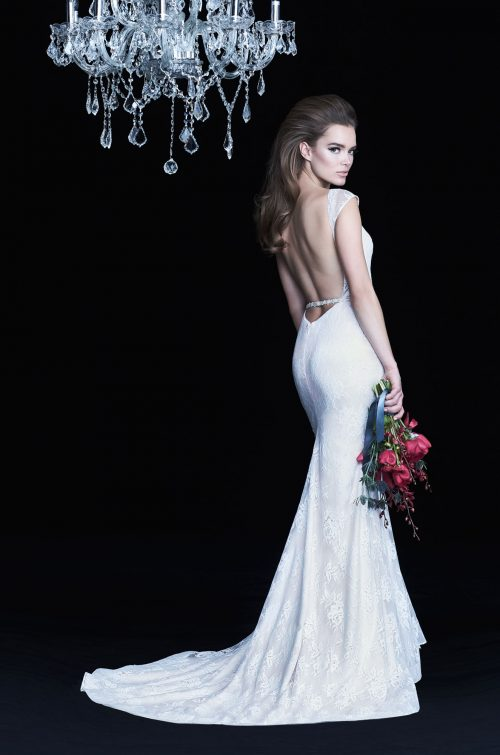 Beaded Band Wedding Dress - Style #4766 | Paloma Blanca