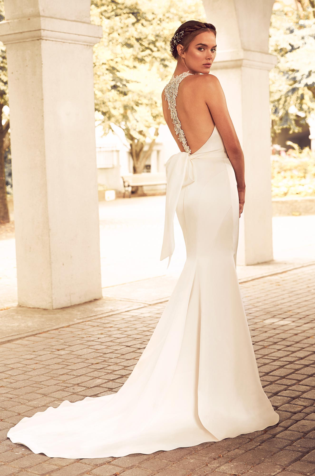 Beaded Racerback Wedding Dress – Style #4780 | Paloma Blanca