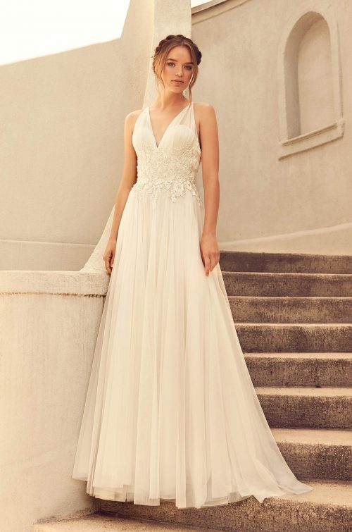 Gathered Tulle Skirt Wedding Dress - Style #4782 | Paloma Blanca