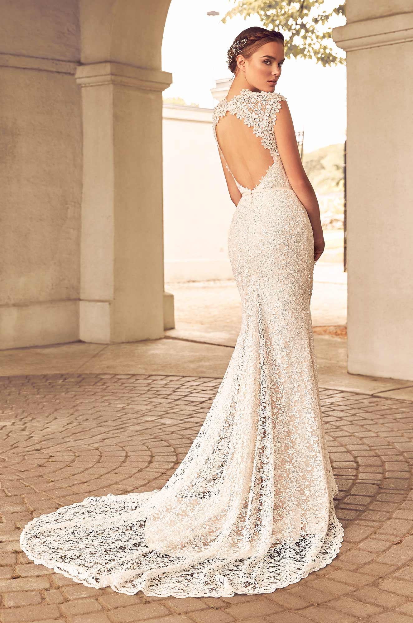 Floral Lace Wedding Dress - Style #4784 | Paloma Blanca