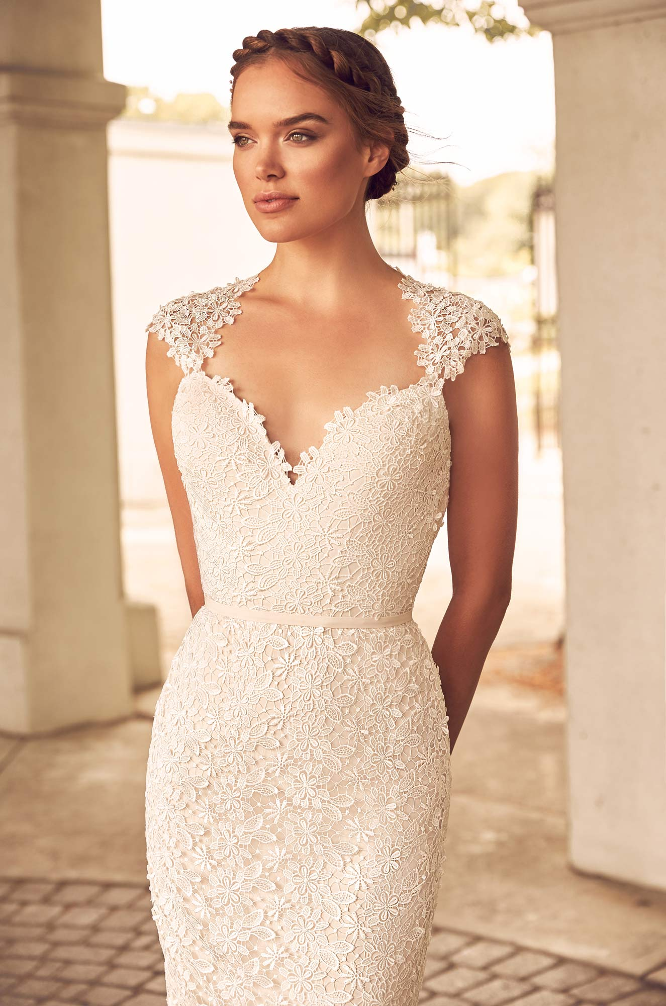 Floral Lace Wedding Dress – Style #4784 | Paloma Blanca
