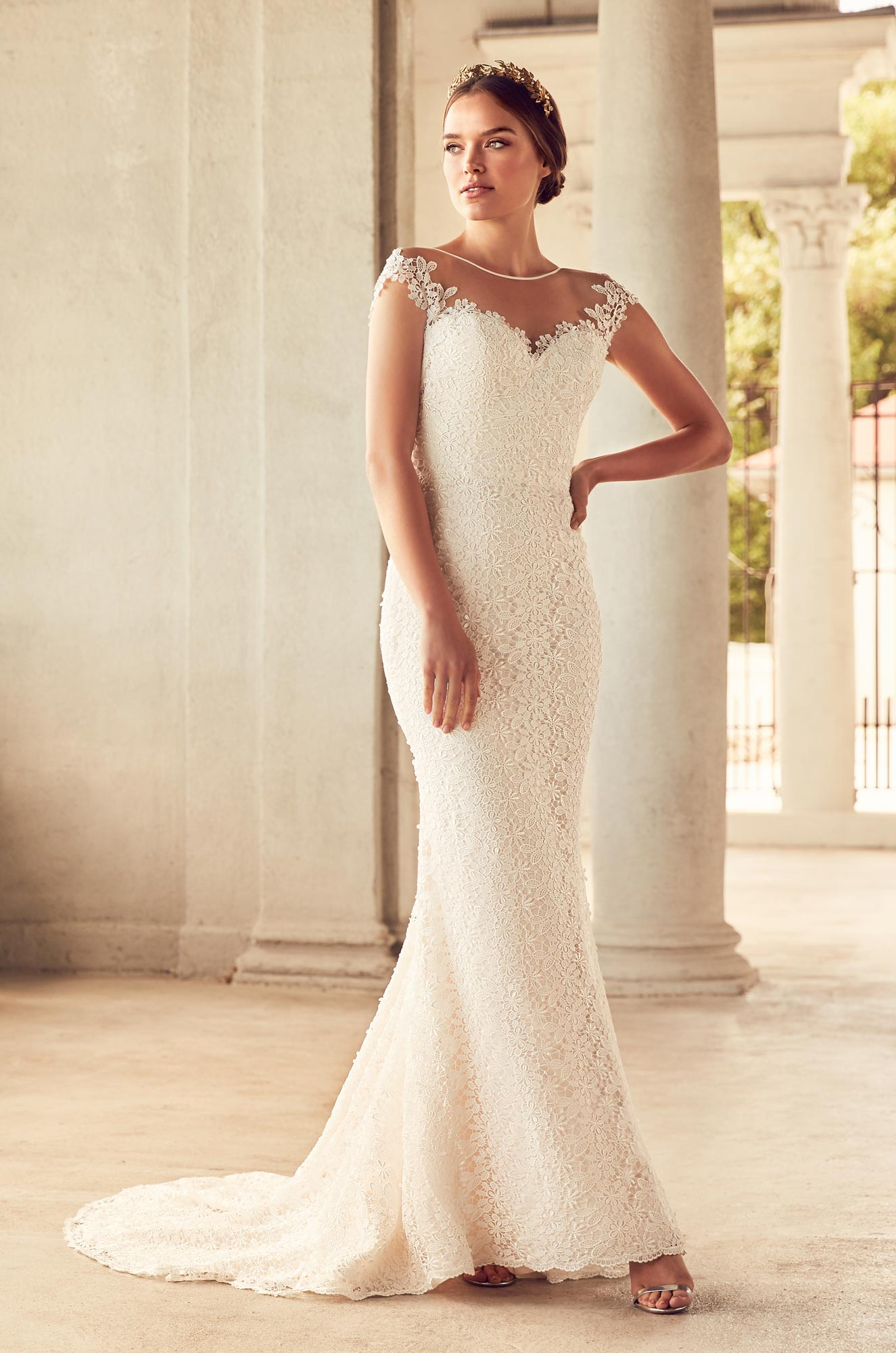 Fitted Lace Wedding Dress - Style #4786 | Paloma Blanca