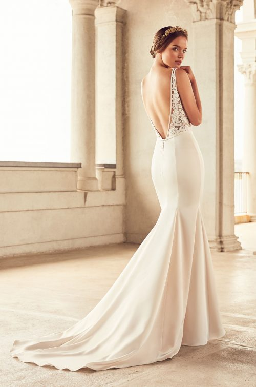 Sheer Bodice Wedding Dress - Style #4787 | Paloma Blanca
