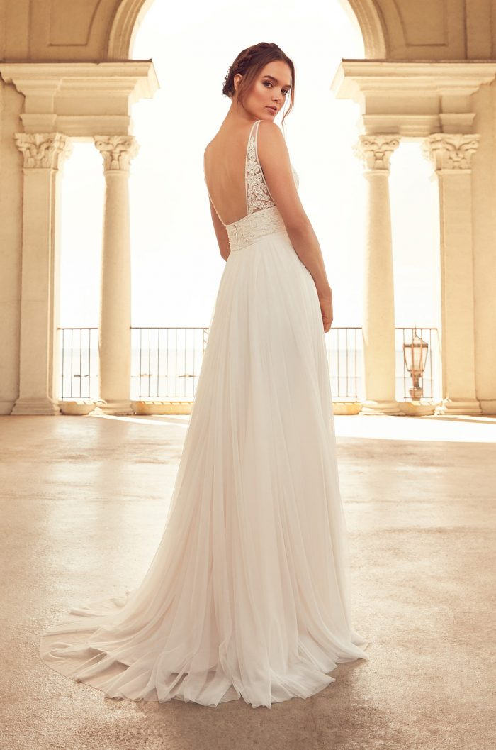 Flowing Empire Wedding Dress - Style #4788 | Paloma Blanca