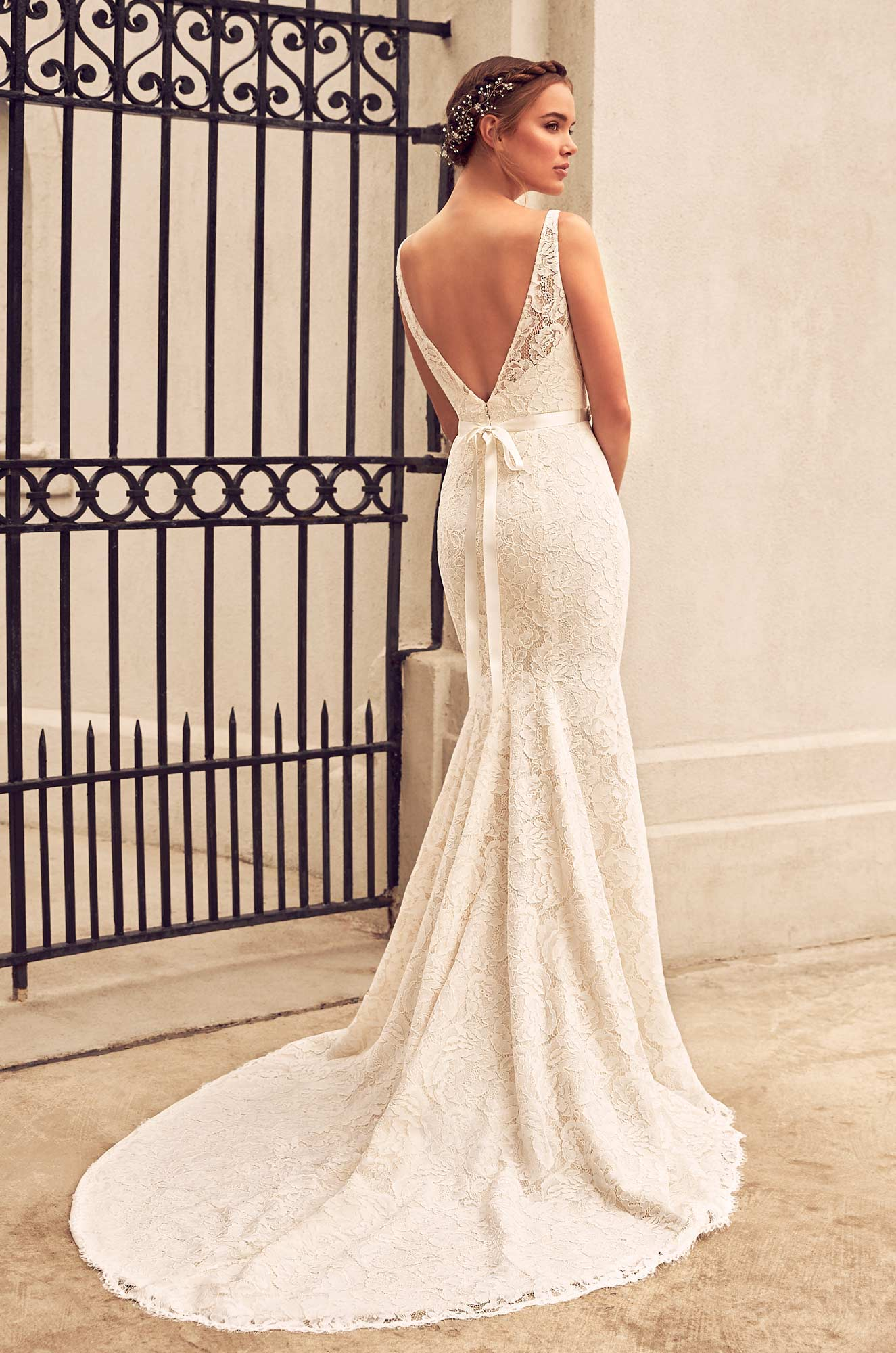 Split Front Lace Wedding Dress - Style #4791 | Paloma Blanca