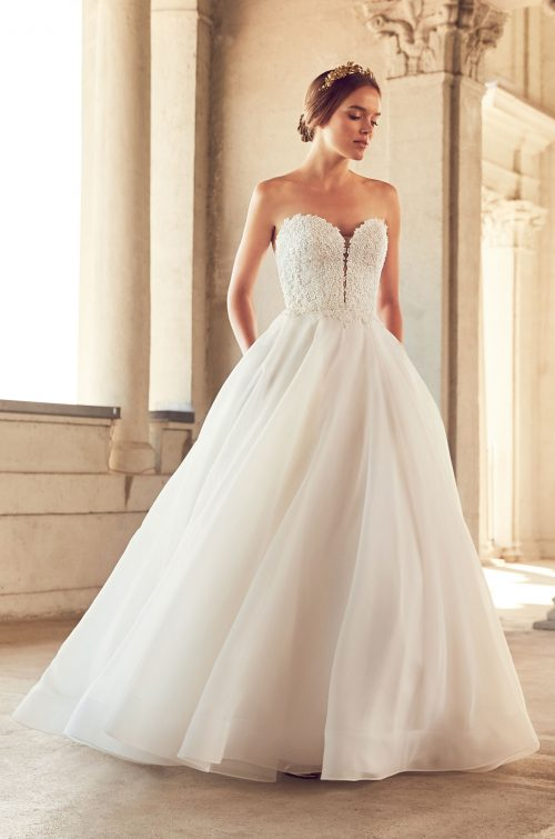 Full Flowing Skirt Wedding Dress - Style #4793 | Paloma Blanca