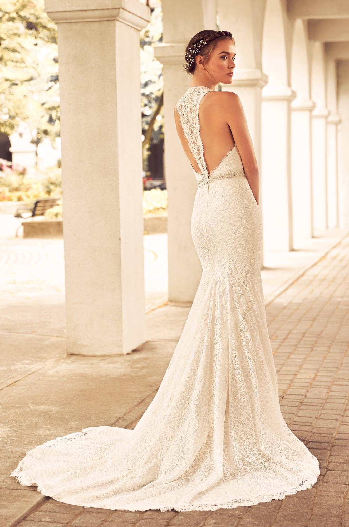 Lace Racerback Wedding Dress – Style #4795 | Paloma Blanca