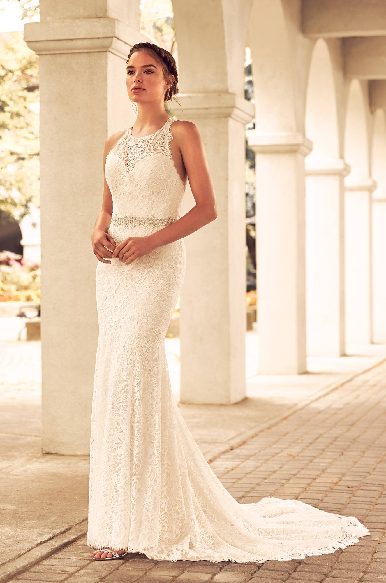 Lace Racerback Wedding Dress - Style #4795 | Paloma Blanca