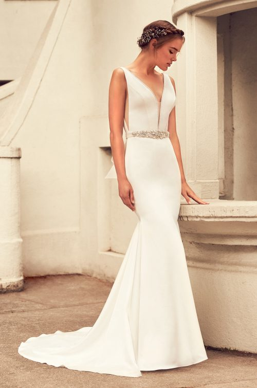 Elegant Satin Wedding Dress - Style #4796 | Paloma Blanca
