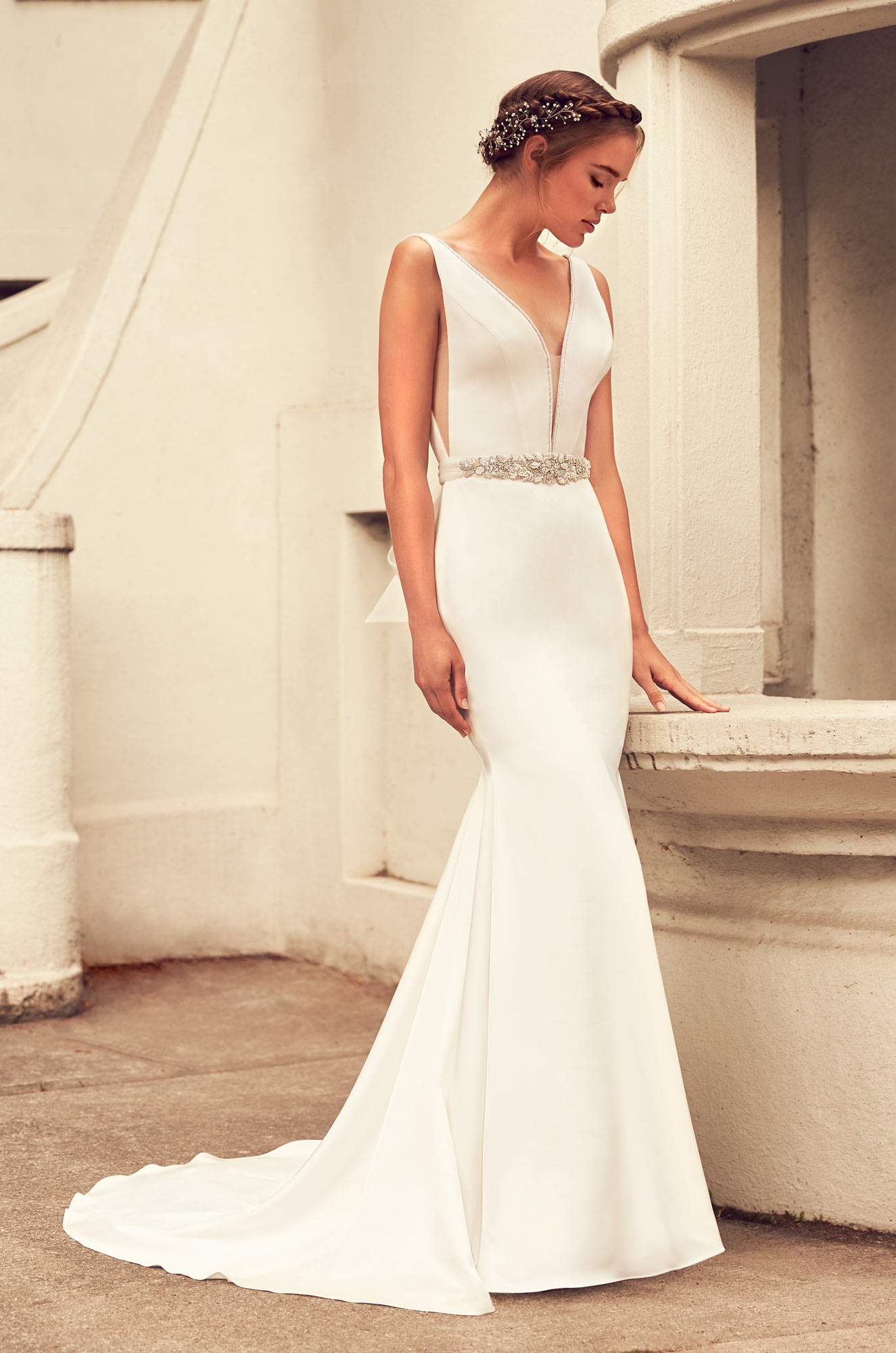 Elegant Satin Wedding Dress