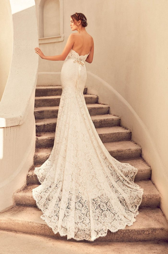 Dramatic Lace Train Wedding Dress - Style #4797 | Paloma Blanca