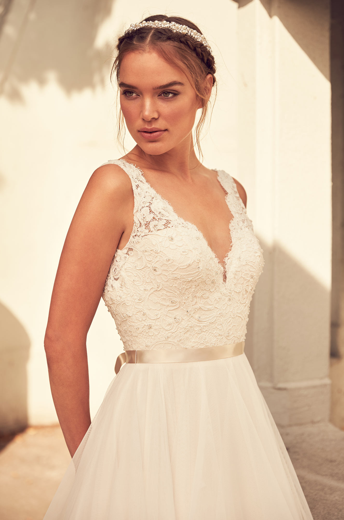 Lightly Beaded Bodice Wedding Dress - Style #4798 | Paloma Blanca