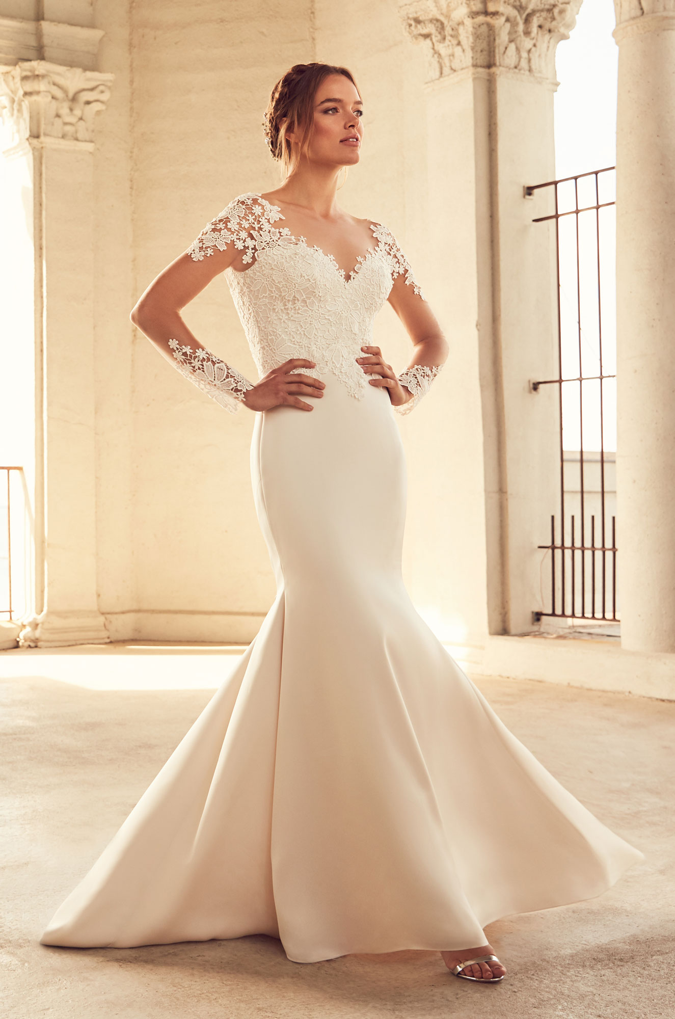 Chic Long Sleeve Wedding Dress - Style #4799 | Paloma Blanca