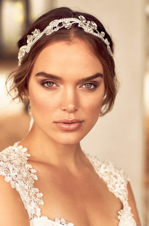 Vine Design Beaded Hairband - Style #HB103 | Paloma Blanca