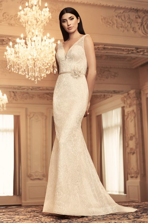 Sequin Lace Wedding Dress - Style #4804 | Paloma Blanca