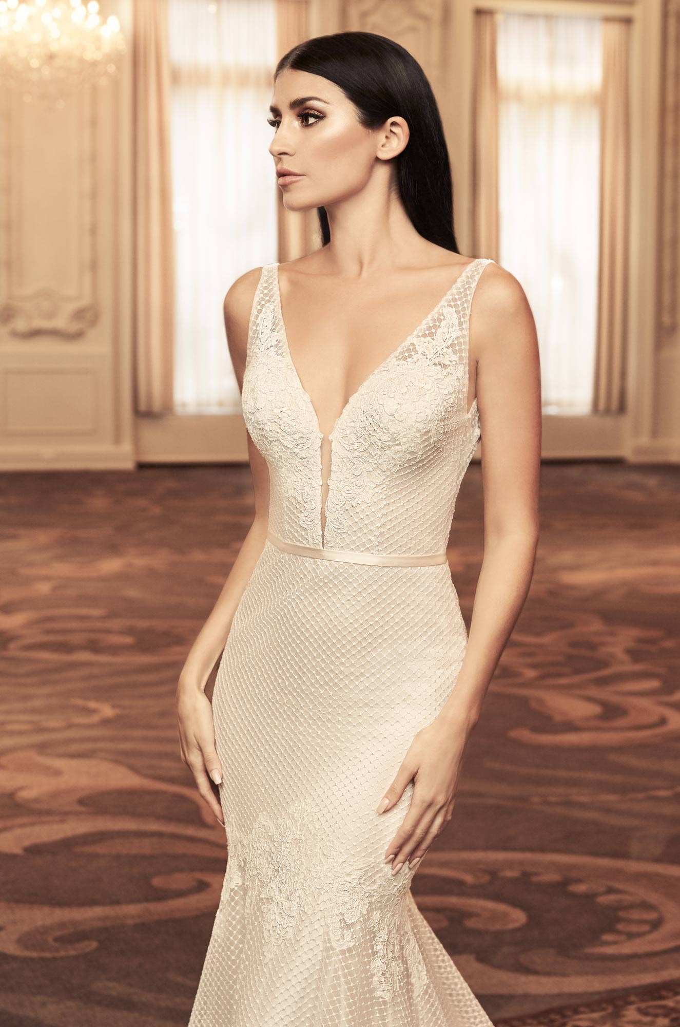 Chic Lattice Wedding Dress - Style #4806 | Paloma Blanca