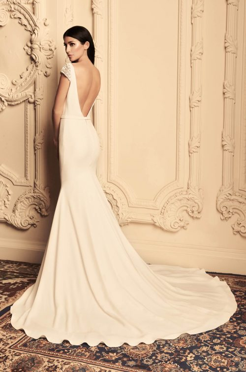 Glam Cap Sleeve Wedding Dress - Style #4807 | Paloma Blanca