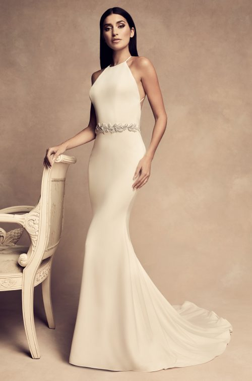 Elegant Open Back Wedding Dress - Style #4809 | Paloma Blanca