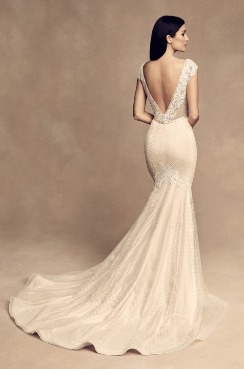 Fitted Lattice Wedding Dress - Style #4813 | Paloma Blanca