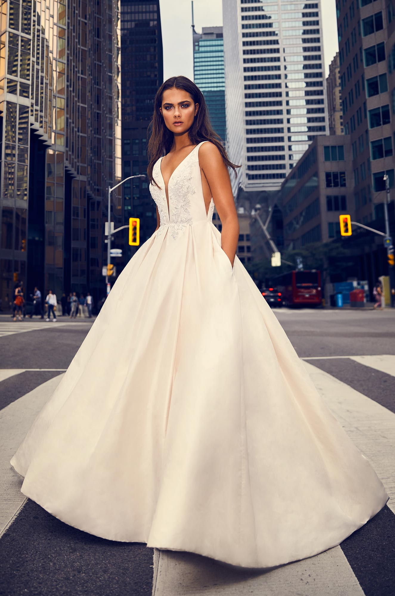Full Silk Skirt Wedding Dress – Style #4825 | Paloma Blanca