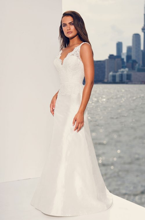 Elegant Lace Bodice Wedding Dress - Style #4826 | Paloma Blanca