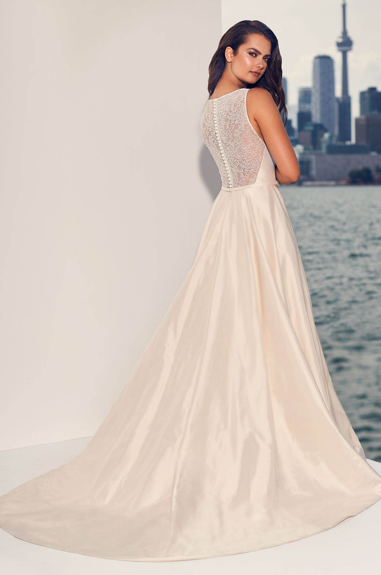 Illusion Lace Back Wedding Dress - Style #4827 | Paloma Blanca