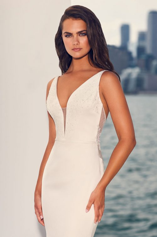 Chic Satin Wedding Dress - Style #4828 | Paloma Blanca