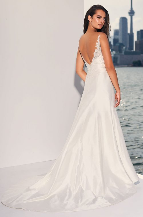 Ruched Midriff Silk Wedding Dress - Style #4830 | Paloma Blanca