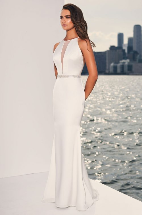 Plunging Halter Neckline Wedding Dress - Style #4833 | Paloma Blanca