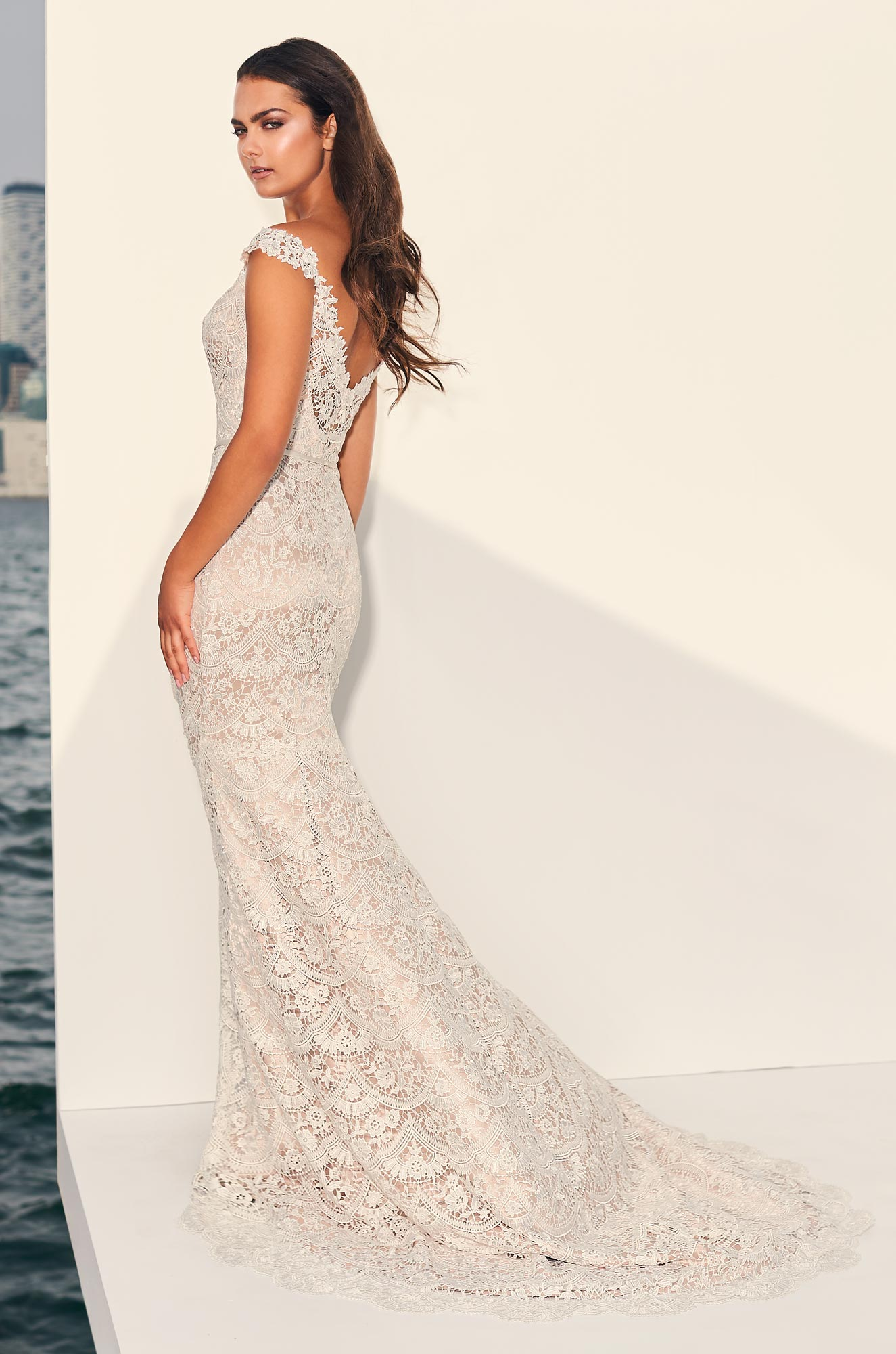Lavish Guipure Lace Wedding Dress - Style #4840 | Paloma Blanca