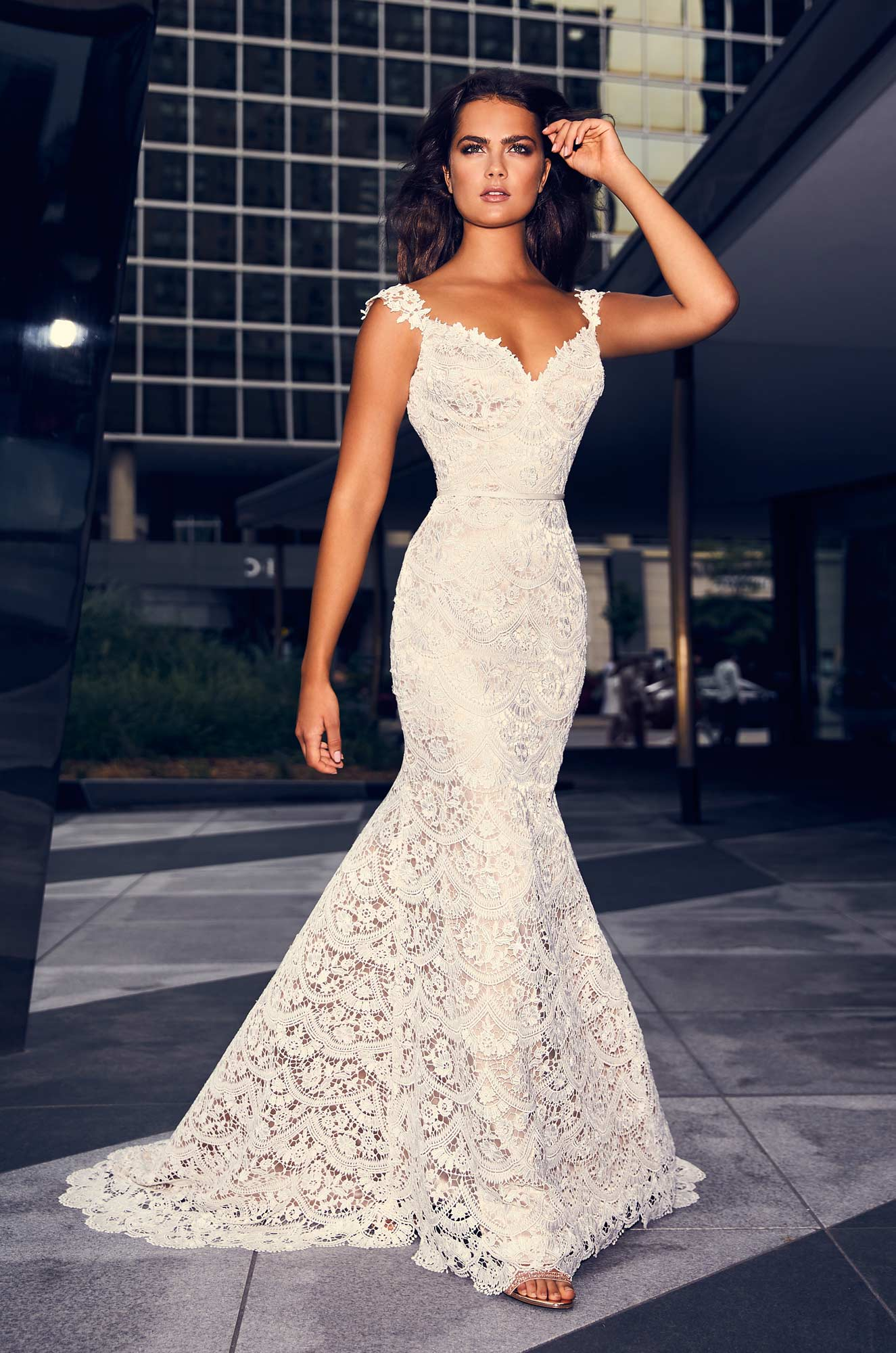 Lavish Guipure Lace Wedding Dress – Style #4840 | Paloma Blanca