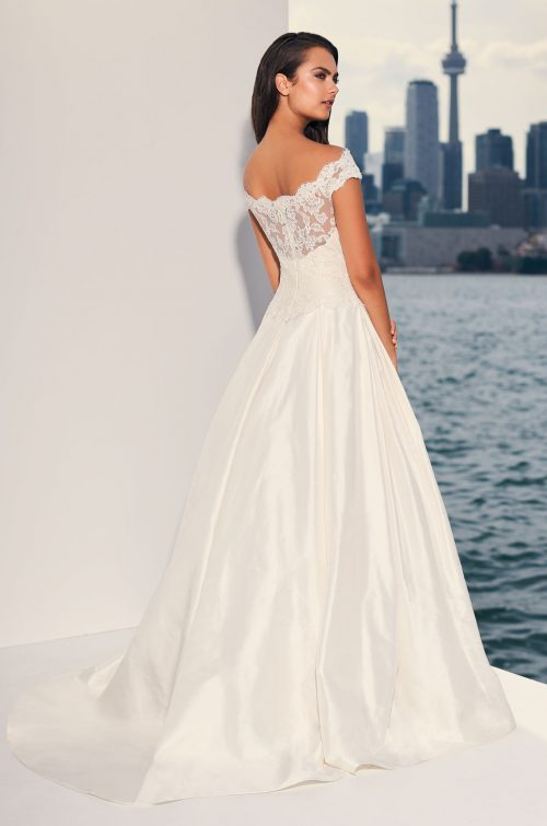 Dropped Waist Silk Wedding Dress - Style  4842  549371799e51
