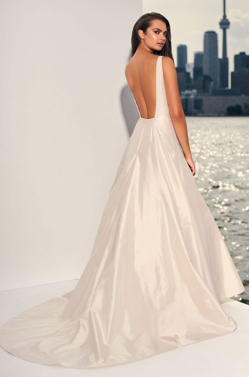 Refined Sleeveless Silk Wedding Dress - Style #4844 | Paloma Blanca